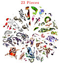 billiga Moderingar-23 pcs Tatueringsklistermärken tillfälliga tatueringar Djurserier / Blomserier Vattentät / Ogiftig Body art / Mönster