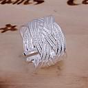 povoljno Modne ogrlice-Žene Prsten Izjave prsten za palac Srebro Glina dame Neobično Jedinstven dizajn Vjenčanje Party Jewelry