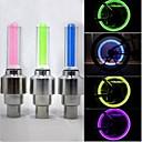 billige Bell & Låser & Mirrors-LED Sykkellykter Sykkellykter Blinkende ventillys hjul lys - Fjellsykling Sykkel Sykling Vanntett 50 lm Batteri Sykling / ABS / IPX-4