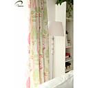 billiga Mörkläggningsgardiner-en panel röd blomtryck gardin