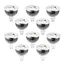 billiga Lampor och kontakter-10pcs 4 W 320 lm MR16 LED-spotlights 4 LED-pärlor Högeffekts-LED Bimbar Varmvit / Kallvit / Naturlig vit 12 V / 10 st / RoHs