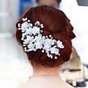 זול הד פיס למסיבות-פנינה / קריסטל / בד Tiaras / פרחים עם 1 / 1pc חתונה / מסיבה\אירוע ערב כיסוי ראש / סגסוגת
