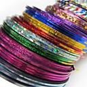 billiga Nagelkonst-30 pcs Nail Foil Striping Tape nagel konst manikyr Pedikyr Abstrakt / Mode Dagligen / Foliebandspapp