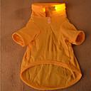 billiga LED-lampor för bil-Hund T-shirt Hundkläder Orange Gul Grön Kostym Cotton Cosplay XS S M L XL