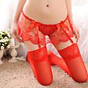 ราคาถูก ถุงเท้าและชุดชั้นใน-สำหรับผู้หญิง ตารางไขว้ ถุงเท้าและรองพื้น / ชุดชั้นในลูกไม้ / อัลตร้าเซ็กซี่ เสื้อนอน - ลูกไม้ สีพื้น สีดำ แดง สีชมพู ขนาดเดียว