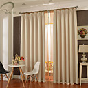 billige Gardiner-landet curtains® ett panel elfenben solid blackout gardin