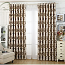 billiga Mörkläggningsgardiner-land curtains® en panel glod blomma jacquard gardin
