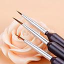 billiga Nagelpenslar-Syntetiskt Hår / Plast Nail Art Tool Nail Acrylic Brush Till Fingernageö Tånagel Originella nagel konst manikyr Pedikyr Klassisk / söt stil Dagligen