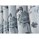 billiga Fönstergardiner-en panel blå blomma jacquard ridån