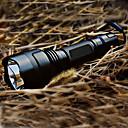 billiga Ficklampor-LED-Ficklampor Taktisk Uppladdningsbar 200 lm LED 1 utsläpps 5 Belysning läge med batteri och laddare Taktisk Uppladdningsbar Camping / Vandring / Grottkrypning Svart / Aluminiumlegering