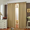 billiga Mörkläggningsgardiner-land curtains® en panel beigefärgat fast mörkläggningsgardin
