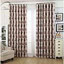 billiga Mörkläggningsgardiner-land curtains® en panel beige blomma jacquard gardin