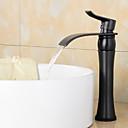 povoljno Slavine za umivaonik-Kupaonica Sudoper pipa - Waterfall Lakirana bronca Središnje pozicionirane Jedan Ručka jedna rupaBath Taps