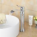 ราคาถูก ก๊อกอ่างล้างหน้าในห้องน้ำ-ก๊อกน้ำอ่างล้างจานห้องน้ำ - น้ำตก มีสี กระจาย One Hole / จับเดี่ยวหนึ่งหลุมBath Taps