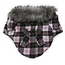 povoljno Odjeća za psa-Mačka Pas Kaputi Odjeća za psa Crvena Pink Pamuk Miješani materijal Kostim Za Zima