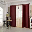 billiga Fönstergardiner-land curtains® en panel rött fast mörkläggningsgardin