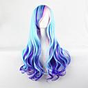 billiga Kostymperuk-Cosplay Peruker Syntetiska peruker Kroppsvågor Kroppsvågor Peruk Blå Syntetiskt hår Dam Blå