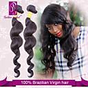 billiga Nagelstämpling-3 paket Brasilianskt hår Klassisk Löst vågigt Obehandlad hår Human Hår vävar 14-22 tum Hårförlängning av äkta hår Människohår förlängningar / 10A