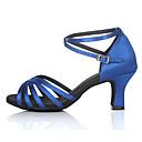 ราคาถูก ของประดับตกแต่งงานแต่งงาน-สำหรับผู้หญิง รองเท้าเต้นรำ ซาติน ลาติน / Salsa หัวเข็มขัด ส้นสูง / รองเท้าแตะ ส้นแบบกำหนดเอง ตัดเฉพาะได้ / ในที่ร่ม / หนังสัตว์ / ฝึก / มืออาชีพ / EU38