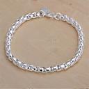 billiga Modearmband-Kedje & Länk Armband damer Klassisk Sterlingsilver Armband Smycken Till Julklappar Bröllop Party Dagligen Casual / Försilvrad