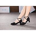 ราคาถูก รองเท้าเต้นโมเดิร์นและรองเท้าบัลเล่ต์-สำหรับผู้หญิง รองเท้าเต้นรำ สังเคราะห์ / ผ้า โมเดอร์น หัวเข็มขัด / ขนสัตว์ ส้นสูง ส้นCuban ไม่ตัดเฉพาะ / ในที่ร่ม / ฝึก / มืออาชีพ