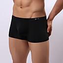 baratos Acessórios para Ferramentas Elétricas-Homens Côr Pura Seda Sintética Cueca Boxer Sólido Cintura Média Preto Azul Claro Branco M L XL