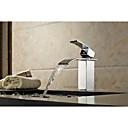 ราคาถูก ก๊อกอ่างอาบน้ำ-ก๊อกอ่างอาบน้ำ - Art Deco / Retro มีสี ติดพื้น Ceramic Valve Bath Shower Mixer Taps / จับเดี่ยวหนึ่งหลุม