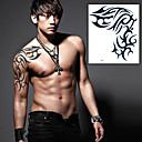 Χαμηλού Κόστους αυτοκόλλητα τατουάζ-1 pcs Αυτοκόλλητα Τατουάζ προσωρινή Τατουάζ Σειρά Τοτέμ Αδιάβροχη / Non Toxic Τέχνες σώμα / Χαμηλά στην Πλάτη / Waterproof