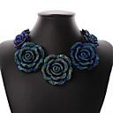 olcso Divat nyaklánc-Női Gyanta Gallér Rózsák Virág Nyilatkozat hölgyek Vintage Party Alkalmi Divat Gyanta Fülbevaló Ékszerek Kék Kompatibilitás Parti Különleges alkalom Évforduló Születésnap Ajándék / Nyakláncok