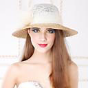 Χαμηλού Κόστους Καπέλο για πάρτι-Τεχνουργήματα καλαθοποιίας / Λινάρι / Κρύσταλλο Kentucky Derby Hat / Τιάρες / Καπέλα με 1 Γάμου / Πάρτι / Βράδυ / Causal Headpiece / Ύφασμα