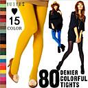 ราคาถูก ถุงเท้าและชุดชั้นใน-สำหรับผู้หญิง ถุงน่อง - สีพื้น อบอุ่น สีดำ ไวน์ สีชมพูเข้ม ขนาดเดียว