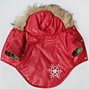 Χαμηλού Κόστους Animale de Pluș-Γάτα Σκύλος Παλτά Φούτερ με Κουκούλα Χειμώνας Ρούχα για σκύλους Κόκκινο Στολές Βαμβάκι Χιονονιφάδα Στολές Ηρώων XS Τ M L XL