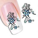 billiga Dekaler-1 pcs 3D Nagelstickers Vattenöverföringsklistermärke nagel konst manikyr Pedikyr Blomma / Abstrakt / Mode Dagligen / 3D Nail Stickers