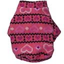 billiga Hundkläder-Katt Hund Kappor T-shirt Vinter Hundkläder Purpur Röd Blå Kostym Polär Ull Cotton Geometrisk Bokstav & Nummer Cosplay XS S M L