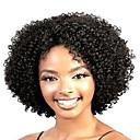 ราคาถูก วิกผมสังเคราะห์-วิกผมสังเคราะห์ ความหงิก ความหงิก ผมปลอม Short สีดำ สังเคราะห์ สำหรับผู้หญิง วิกผมแอฟริกันอเมริกัน ดำ StrongBeauty