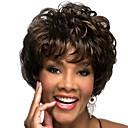 Χαμηλού Κόστους Χωρίς κάλυμμα-Συνθετικές Περούκες Κυματιστό Κυματιστό Με αφέλειες Περούκα Κοντό Καφέ Συνθετικά μαλλιά Γυναικεία Μαλλιά μπαλαγιάζ Με τα Μπουμπούκια Καφέ