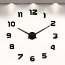 baratos Pinturas Animais-Relógio de parede sem moldura diy, 3d relógio de parede grande mudo adesivos de parede para sala de estar quarto casa decorações (preto)