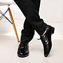 ราคาถูก รองเท้าเต้นโมเดิร์นและรองเท้าบัลเล่ต์-สำหรับผู้ชาย รองเท้าเต้นรำ Microfibre โมเดอร์น / บอลล์รูม ลูกไม้ขึ้น ส้น ส้นต่ำ ไม่ตัดเฉพาะ ดำ / ขาว / EU43