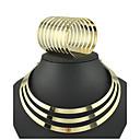 Χαμηλού Κόστους Τσαντάκια & Βραδινές Τσάντες-Σετ Κοσμημάτων Κολιέ Τσόκερ Μοντέρνο κυρίες Βραχιόλι Βίντατζ Πάρτι Ευρωπαϊκό Σκουλαρίκια Κοσμήματα Χρυσό Για 1set