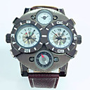 ราคาถูก นาฬิกากีฬา-JUBAOLI สำหรับผู้ชาย นาฬิกาข้อมือ นาฬิกาอิเล็กทรอนิกส์ (Quartz) หนัง ดำ / ฟ้า / แดง ปฏิทิน ระบบอนาล็อก เสน่ห์ - สีน้ำตาล ฟ้า Drak Red หนึ่งปี อายุการใช้งานแบตเตอรี่ / SSUO LR626