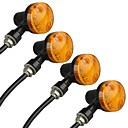 זול תאורת אופנוע-4pcs אופנוע נורות תאורה LED אופנוע For אוניברסלי