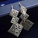 billiga Modeörhängen-Dam Dropp Örhängen Hängande örhängen damer örhängen Smycken Silver / Brun Till Bröllop Party Dagligen Casual
