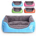 ราคาถูก ที่นอนและผ้าห่มสำหรับสุนัข-แมว สุนัข เบาะที่นอน ที่นอน ผ้าห่มเตียง ผ้า ฝ้าย สัตว์เลี้ยง เสื่อ & แผ่นปู สีพื้น กันน้ำ น่ารัก สีดำ จุด เสือดาว