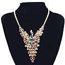 Χαμηλού Κόστους Φορέματα για κορίτσια-Γυναικεία Συνθετικό Diamond Κρεμαστά Κολιέ Κολιέ Δήλωση Παγόνι Λεπτοκαμωμένος Μοντέρνο κυρίες Ευρωπαϊκό Στρας Κράμα Χρώμα Οθόνης Κολιέ Κοσμήματα Για