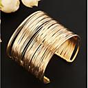 billiga Moderingar-Dam Manschett Armband Bred Bangle Multi lager Ihålig damer Unik design Vintage Fest Europeisk Legering Armband Smycken Guld / Golden 2 / Silver 2 Till Party Dagligen