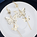 povoljno Modne naušnice-Žene Viseće naušnice jeftino dame Elegantno Naušnice Jewelry Pink / Zlatan Za Vjenčanje Party Dnevno Kauzalni
