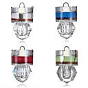 Χαμηλού Κόστους Δολώματα & Τεχνητά Δολώματα-4pcs Φως ψαρέματος LED Άσπρο Κόκκινο Μπλε Πράσινο ABS Υποβρύχιος Εμφάνιση Διαμαντιού Ψάρεμα 200-500 m