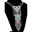 cheap Necklaces-Women's Statement Necklace Long Necklace Tassel Long Statement Ladies Tassel Vintage Alloy Silver Necklace Jewelry For Special Occasion Birthday Gift
