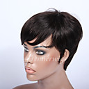 povoljno Umjetno drago kamenje&Dekoracije-Ljudski kose bez kaplama Ljudska kosa Ravan kroj Stil Machine Made Perika