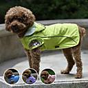 ราคาถูก ไฟเพดาน-สุนัข ชุดกันฝน Dog Clothes สีม่วง สีเขียว ฟ้า เครื่องแต่งกาย พลาสติก ไนลอน กันน้ำ XS S M L XL XXL